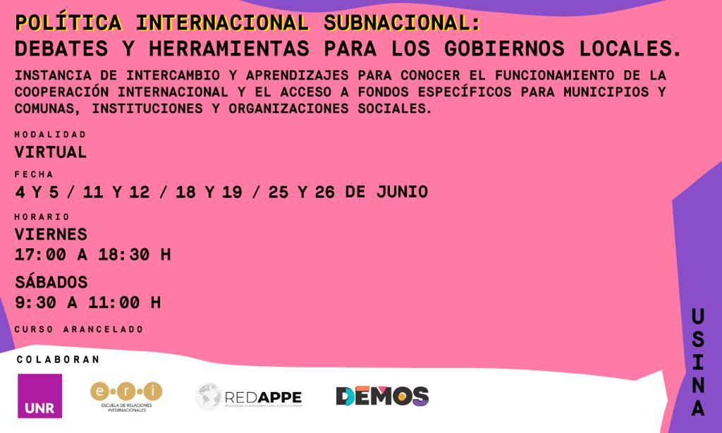 [Curso] Política internacional subnacional: debates y herramientas para los gobiernos locales.